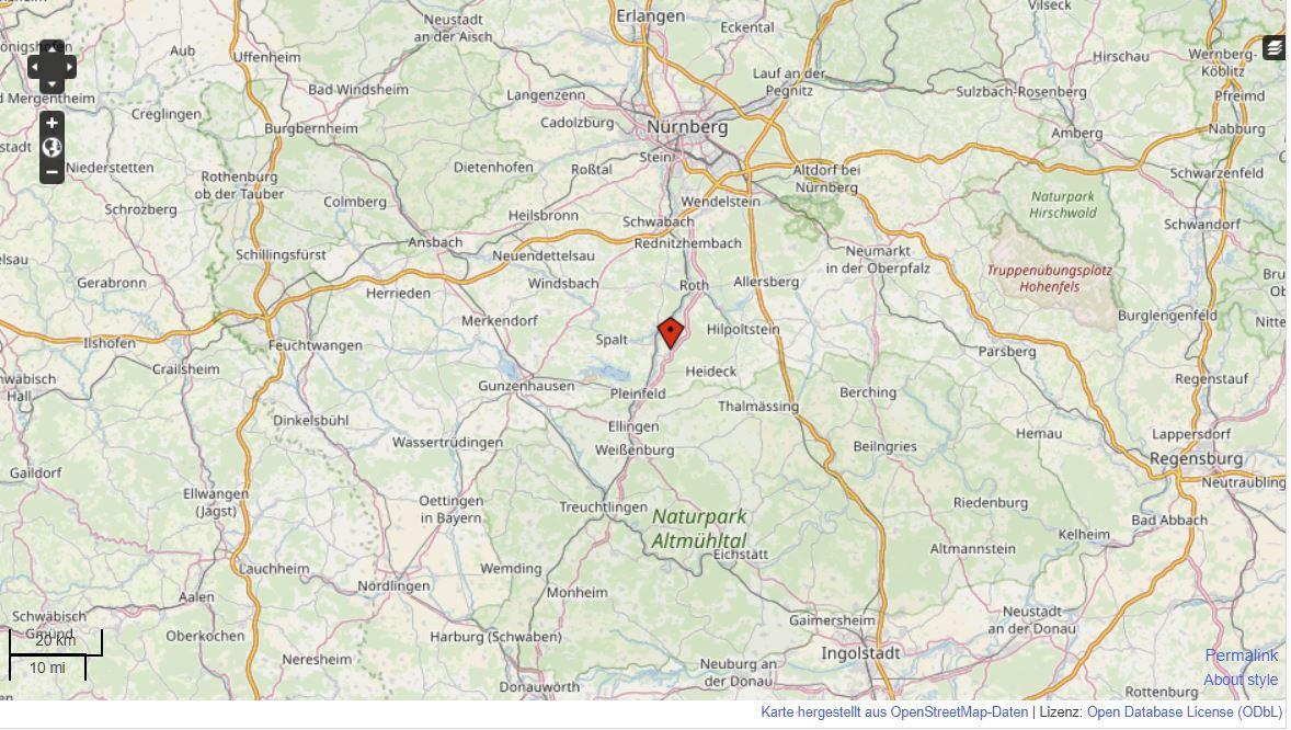Übersichtskarte mit Markierung des Standortes von SD Automobile